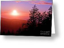 Sunset Off Mt Erie Washington Art Prints Greeting Card