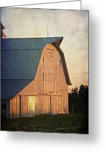 Sunset On A Barn Greeting Card