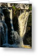 Sunset On A Waterfall Greeting Card