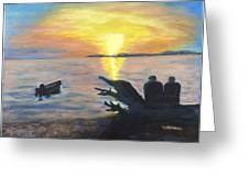 Sunset On Birch Bay Greeting Card