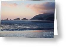 Sunset On Cannon Beach Greeting Card