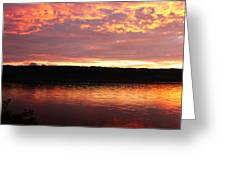 Sunset On Cayuga Lake Cornell Sailing Center Ithaca New York II Greeting Card