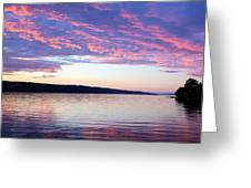 Sunset On Cayuga Lake Cornell Sailing Center Ithaca New York Greeting Card