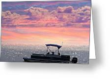 Sunset On Grand Beach Greeting Card