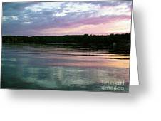 Sunset On Gull Lake Greeting Card