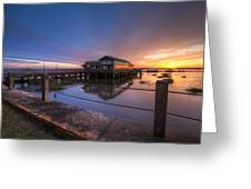 Sunset On Jekyll Island Greeting Card