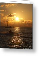 Sunset Over Key West Greeting Card