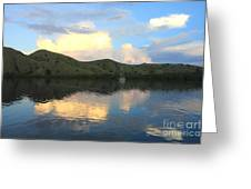 Sunset On Komodo Greeting Card