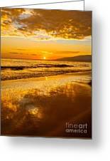 Sunset On Lahaina Greeting Card