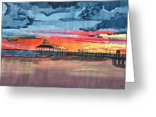 Sunset On Lake Jackson Greeting Card