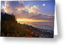 Sunset On Little Cayman Greeting Card