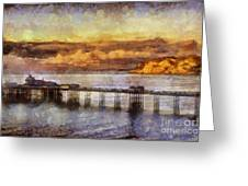 Sunset On Little Orme Greeting Card