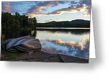 Sunset On Long Pond Greeting Card