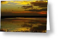 Sunset On Medicine Lake Greeting Card