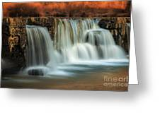 Sunset On Natural Dam Greeting Card
