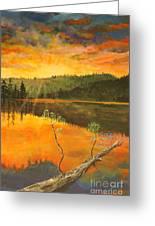 Sunset On Navajo Lake Greeting Card