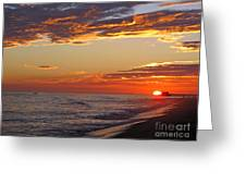 Sunset On Newport Beach Greeting Card