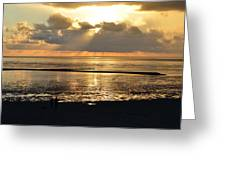Sunset On North Sea Greeting Card