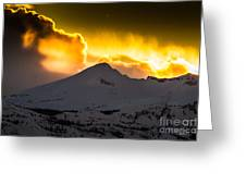 Sunset On Pyramid Greeting Card