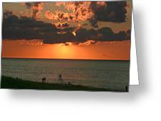 Sunset On Race Point Beach Greeting Card