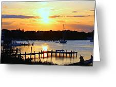Sunset On Silver Lake Greeting Card