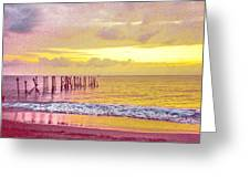 Sunset On Tahiti Greeting Card