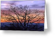 Sunset On Tanners Ridge Greeting Card