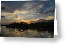 Sunset On The Amazon 1 Greeting Card