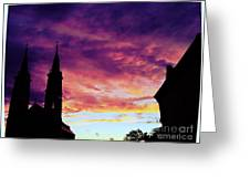 Sunset On The Basilica  Greeting Card