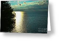 Sunset On The Bay Of Green Bay Wi Greeting Card