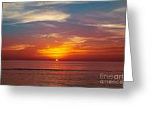 Sunset On The Beach. Greeting Card