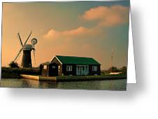 Sunset On The Broads Greeting Card