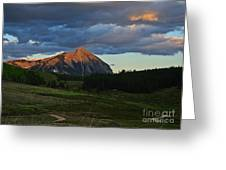 Sunset On The Butte Greeting Card