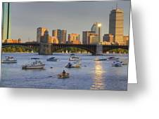 Sunset On The Charles Greeting Card