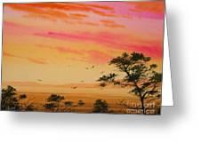 Sunset On The Coast Greeting Card