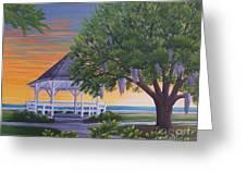Sunset On The Gazeebo Greeting Card