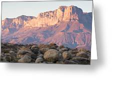 Sunset On The Guadalupe Mountains Greeting Card