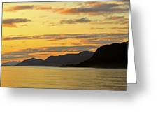 Sunset On The Gulf Of Alaska Greeting Card