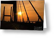 Sunset On The High Rise Greeting Card