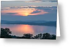 Sunset On The Isle Of Luing Greeting Card