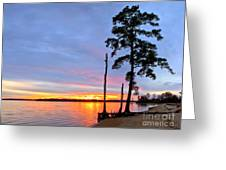Sunset On The James River Greeting Card