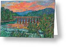 Sunset On The New River Greeting Card