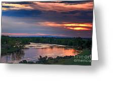 Sunset On The Payette  River Greeting Card