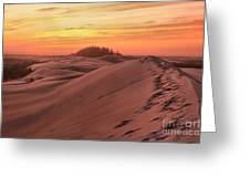 Sunset On The Ridge Greeting Card