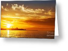 Sunset On The Sea Greeting Card