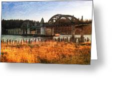 Sunset On The Siuslaw River Greeting Card