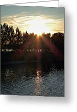 Sunset On The Volga River Greeting Card