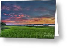 Sunset On The Wando Greeting Card