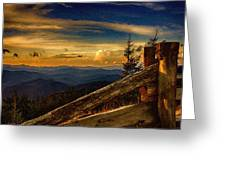 Sunset On Top Of Mount Mitchell Greeting Card