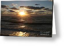 Sunset On Venice Beach  Greeting Card